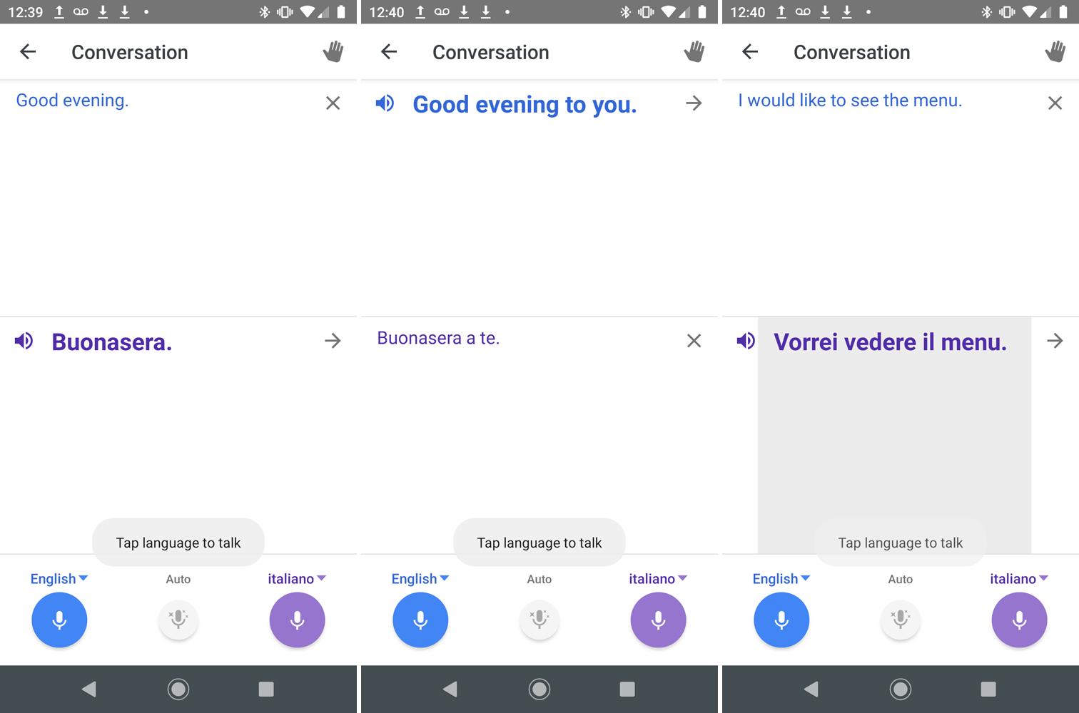 traductor de google traduciendo conversación