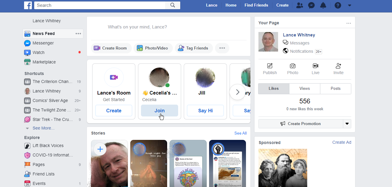 unirse a salas de mensajería de facebook
